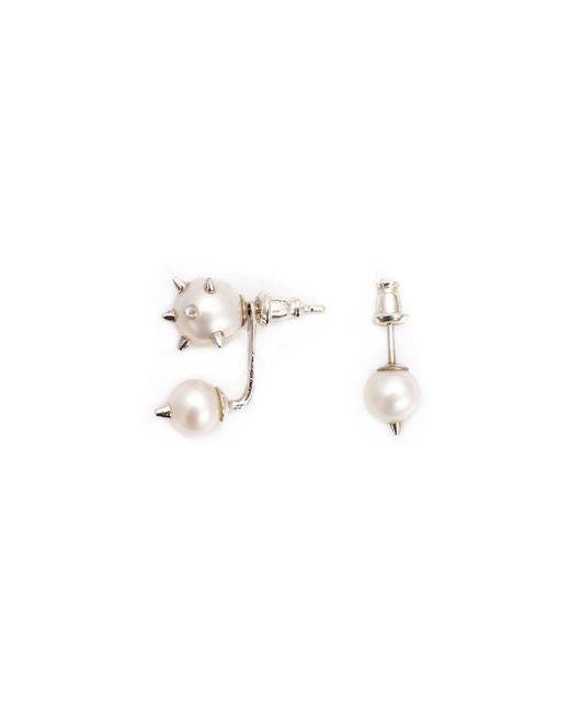 Nektar De Stagni   Metallic Spike Pearl Earrings   Lyst