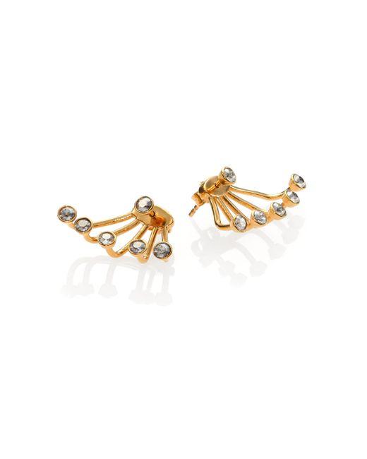 Ca&Lou | Metallic Pixie Crystal Ear Jacket & Stud Earrings Set/goldtone | Lyst