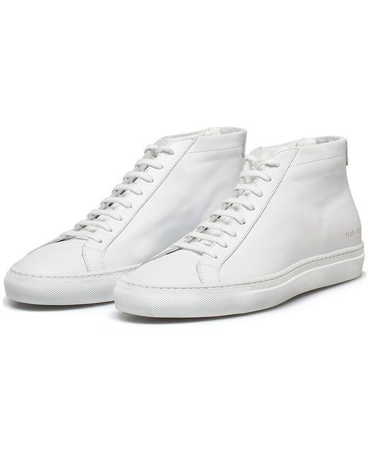Common projects White Original Achilles Mid Sneakers in White for Men | Lyst