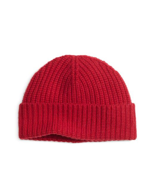 Brooks Brothers | Red Ribbed Cashmere Hat for Men | Lyst