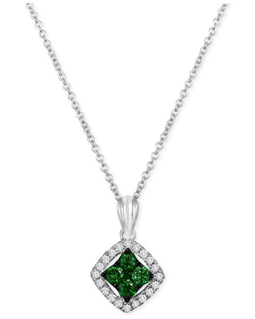 Le Vian | Exotics® Diamond Green Pendant Necklace (1/3 Ct. T.w.) In 14k White Gold | Lyst