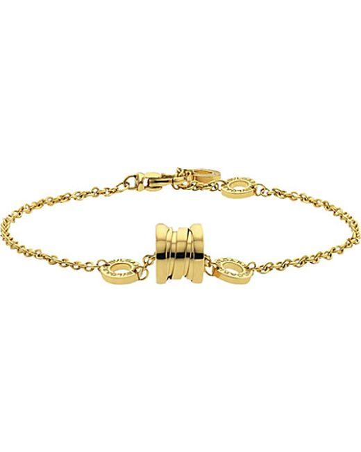 BVLGARI | Metallic B.zero1 Soft 18kt Gold Bracelet | Lyst