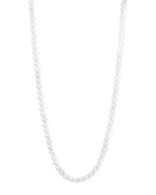 Anne Klein | White Gold-tone Imitation Pearl Long Length Necklace | Lyst