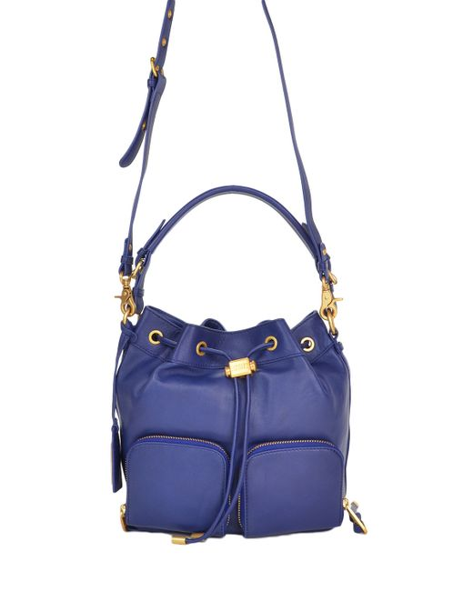 Badgley Mischka   Blue Poppy Bucket Handbag   Lyst