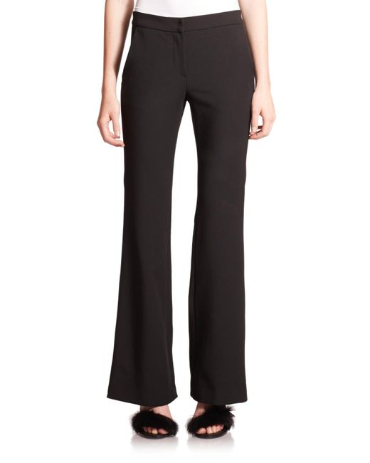Tibi | Black Anson Wide-leg Stretch Trousers | Lyst