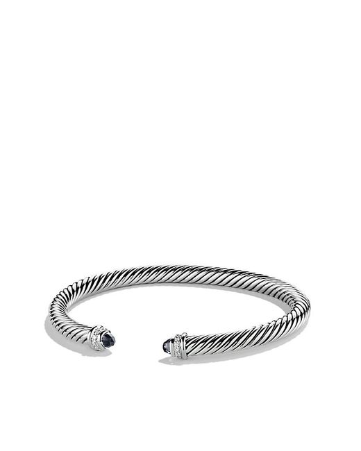 David Yurman | Cable Classics Bracelet With Black Onyx And Diamonds, 5mm | Lyst