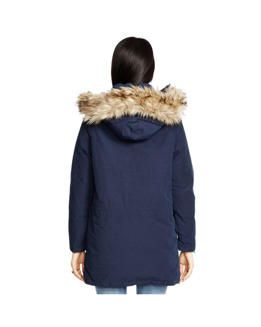Denim & Supply Ralph Lauren | Blue Hooded Down Parka | Lyst