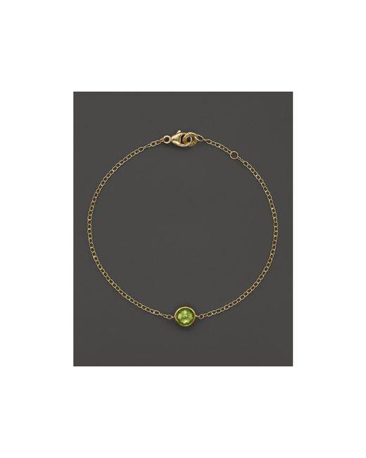 Ippolita   Metallic 18k Gold Mini-lollipop Bracelet In Peridot   Lyst