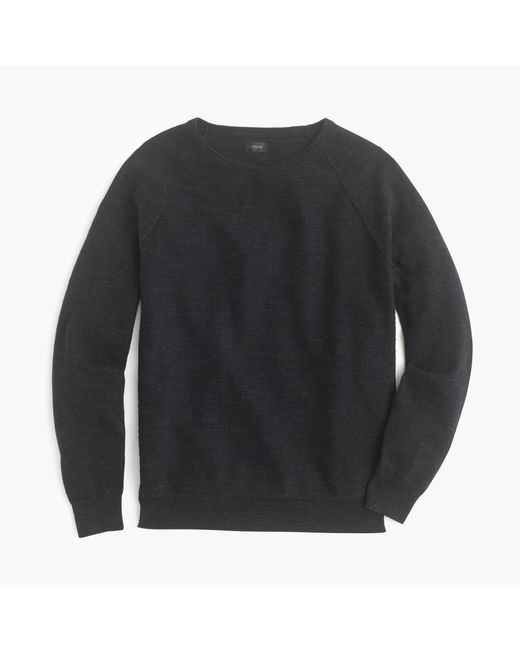 J.Crew   Black Rugged Cotton Sweater for Men   Lyst