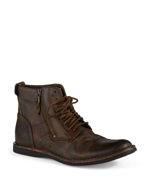 John Varvatos | Brown Barrett Side-zip Chukka Boots for Men | Lyst