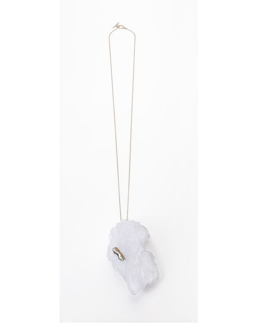 Noritamy | Etna Icy White Polymer Pendant Necklace | Lyst