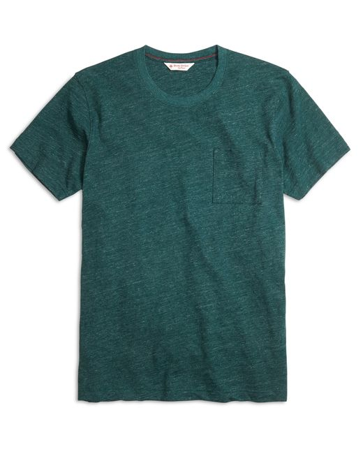 Brooks Brothers | Green Slub Crewneck Pocket Tee Shirt | Lyst