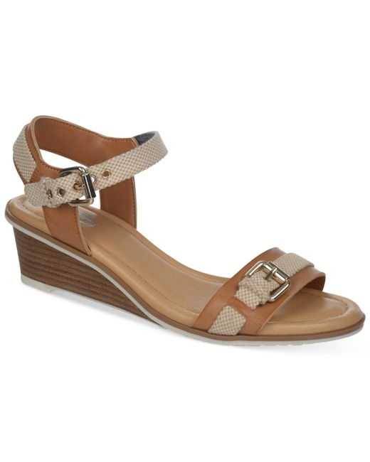 Dr. Scholls | Brown Glendale Wedge Sandals | Lyst
