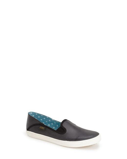 Keds | Black 'Crashback' Leather Slip-On | Lyst