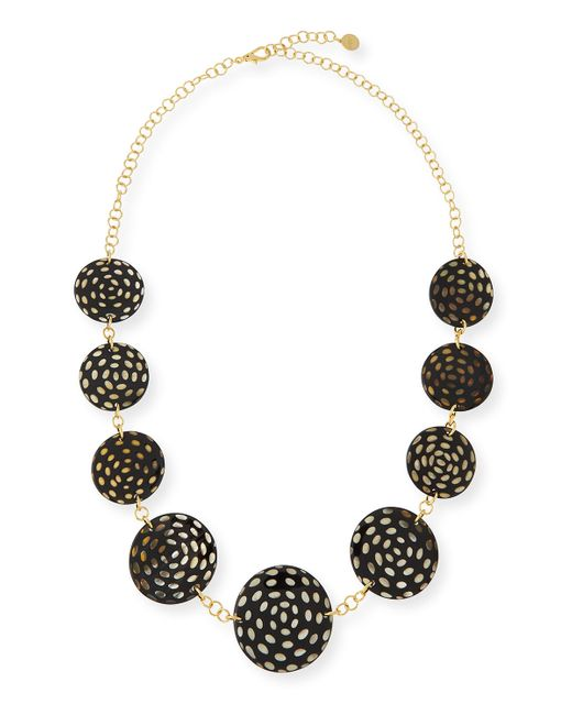 Nest | Brown Spotted Horn Disc Necklace | Lyst