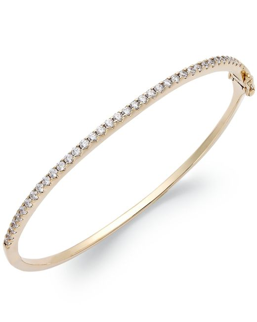 Arabella | Metallic 14k Gold Over Sterling Silver Swarovski Cubic Zirconia Bangle Bracelet (1-3/4 Ct. T.w.) | Lyst