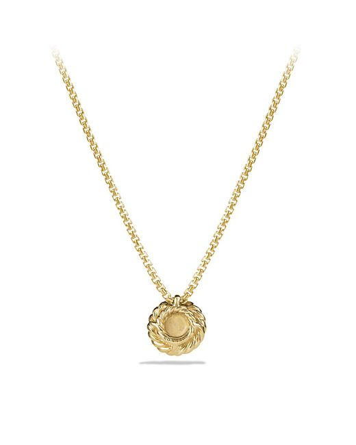 David Yurman | Metallic Petite Pave Pendant Necklace With Diamonds In 18k Gold | Lyst