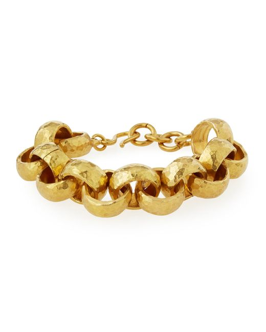 Ashley Pittman | Metallic Usawa Hammered Bronze Bracelet | Lyst
