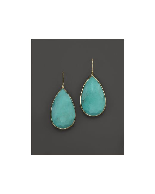 Ippolita | Blue Turquoise & 18k Yellow Gold Rock Candy Large Pear Drop Earrings | Lyst