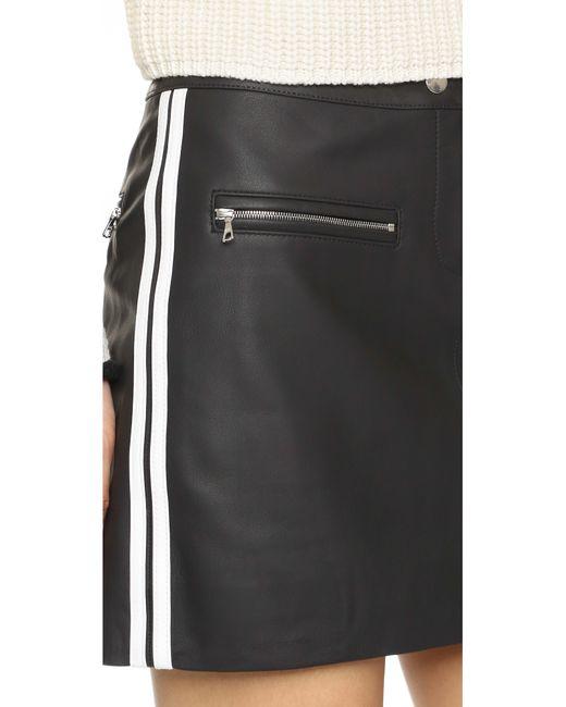 rag bone pace leather skirt in black lyst