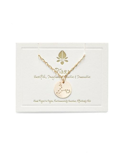 Ija | Metallic 'large Zodiac' 14k-gold Fill Necklace | Lyst
