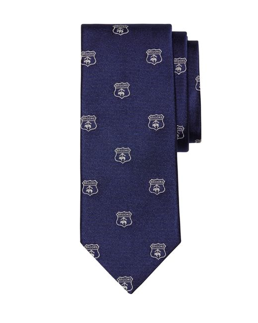 Brooks Brothers   Blue Crest Tie for Men   Lyst