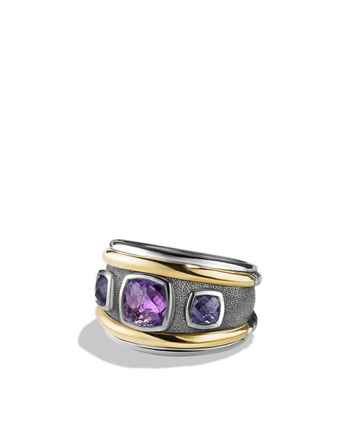 David Yurman | Metallic Renaissance Ring With Amethyst, Iolite And 14k Gold | Lyst