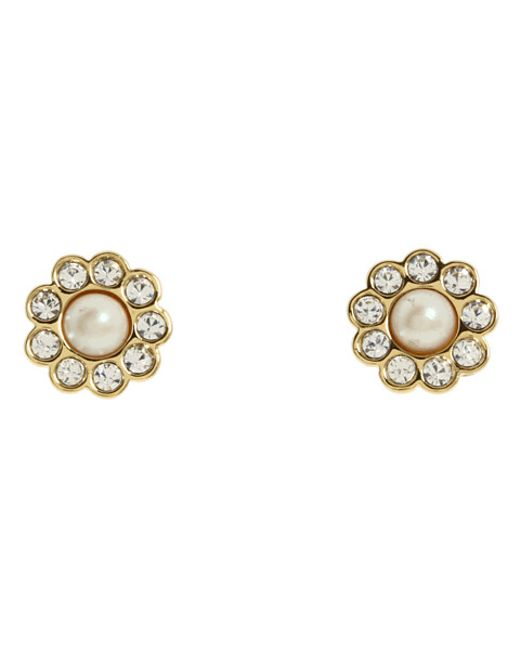 Kate Spade | Natural Park Avenue Pearls Studs | Lyst