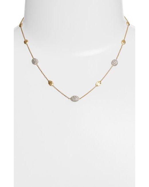 Marco Bicego | Metallic 'siviglia' Diamond Station Necklace | Lyst