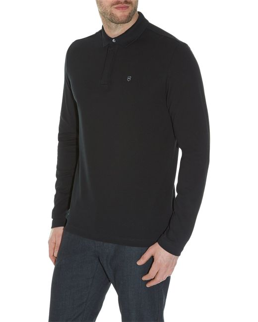 Victorinox | Black Long Sleeve Movement Polo for Men | Lyst