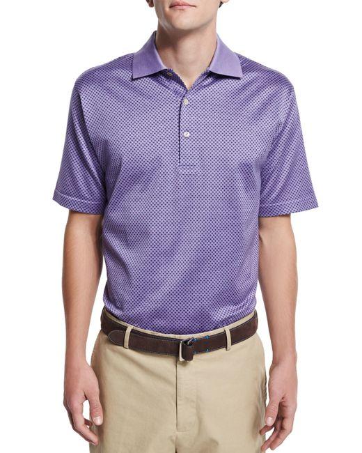 Peter millar geometric print short sleeve polo shirt in for Peter millar polo shirts