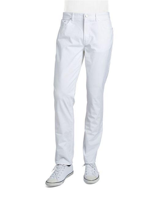 Michael Kors | White Five Pocket Twill Pants for Men | Lyst