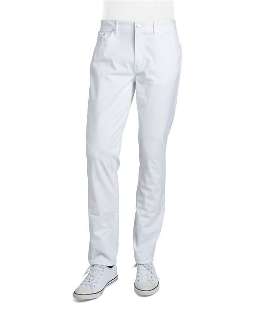 Michael Kors | White Tailored Cotton Twill Pants for Men | Lyst