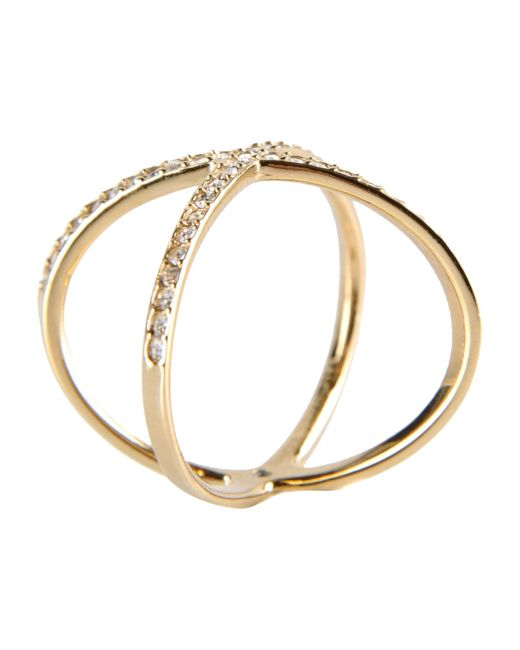 michael kors ring in gold lyst
