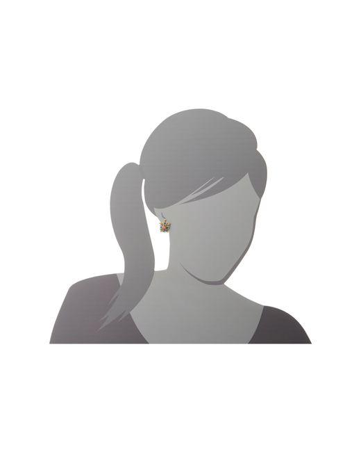 Betsey Johnson | Blue Antique Gold-tone Owl Stud Earrings | Lyst