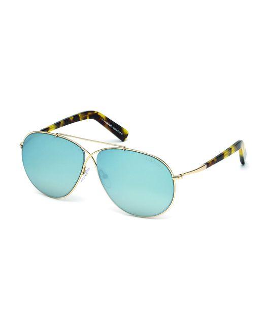 Tom Ford   Eva Aviator Sunglasses In Shiny Rose Gold   Lyst