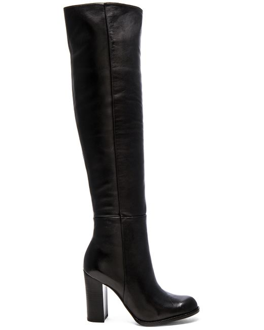 Sam Edelman | Black Rylan Leather Knee-high Boots | Lyst