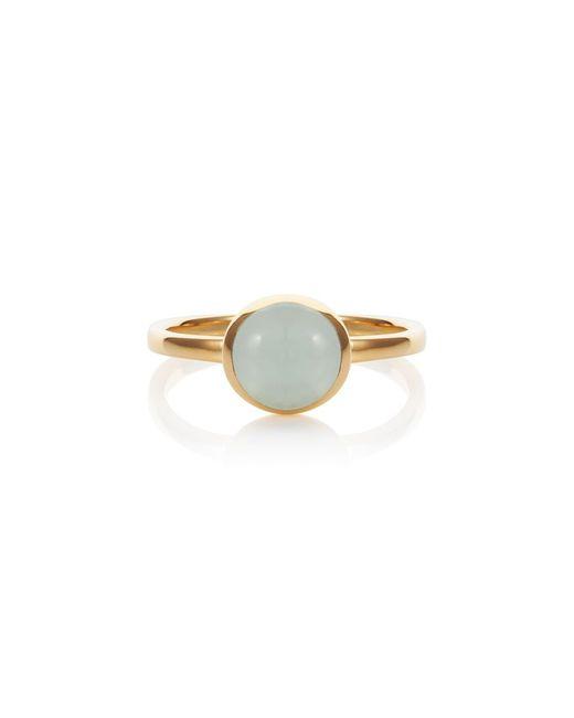 Caroline Creba | Blue 18ct Gold Plated Sterling Silver 2ct Aqua Quartz | Lyst