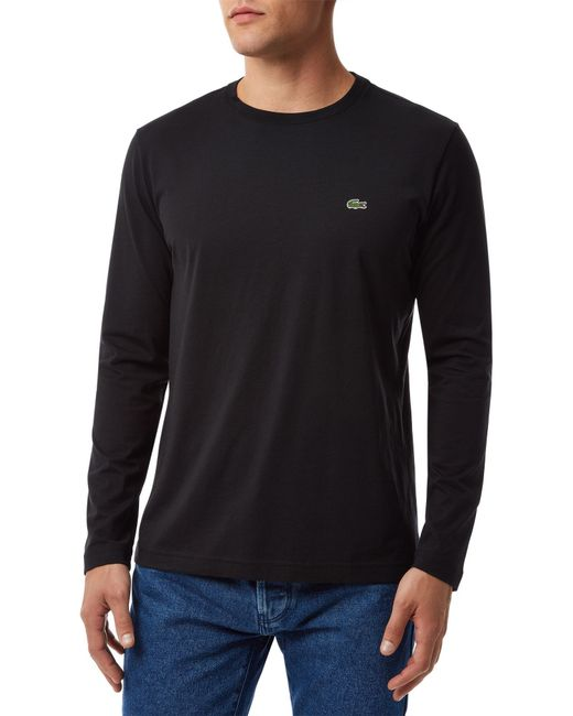 Lacoste | Black Long Sleeved T-shirt for Men | Lyst