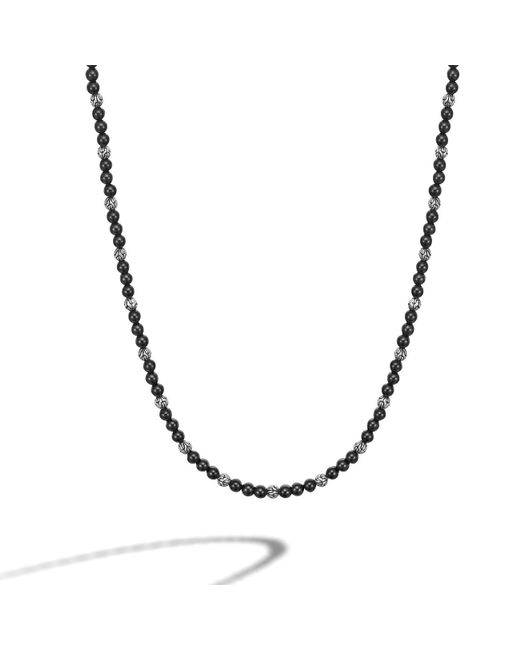 John Hardy | Black Round Beads Necklace for Men | Lyst