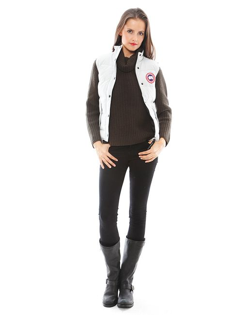 Canada Goose vest online store - Canada goose Freestyle Vest in White (Silverbirch) | Lyst