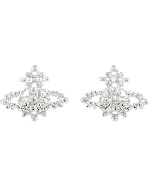 Vivienne Westwood | Metallic Isolde Bas Relief Orb Stud Earrings | Lyst