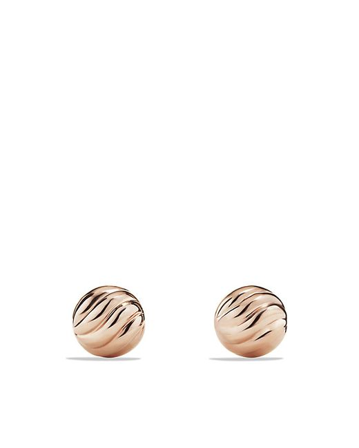 David Yurman | Metallic Sculpted Cable Stud Earring In 18k Rose Gold | Lyst