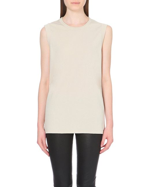 IRO | Natural Leila Shredded Cotton-jersey Top | Lyst