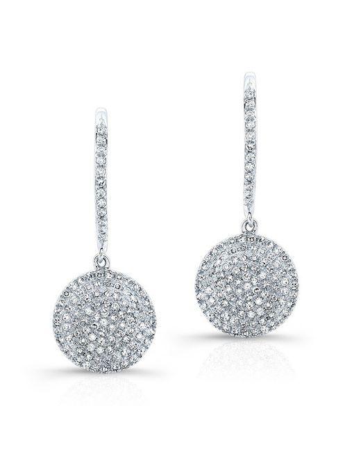 Anne Sisteron | Metallic 14kt White Gold All Diamond Disc Earrings | Lyst