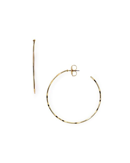 Robert Lee Morris | Metallic Hammered Hoop Earrings | Lyst