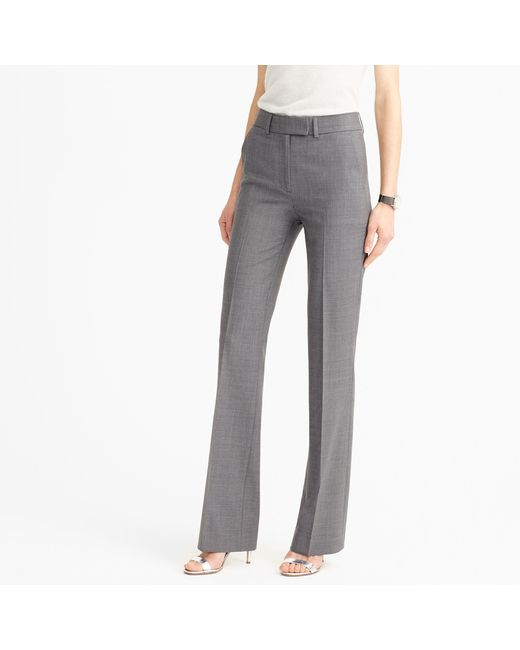 J.Crew | Gray Tall Preston Pant In Italian Stretch Wool | Lyst