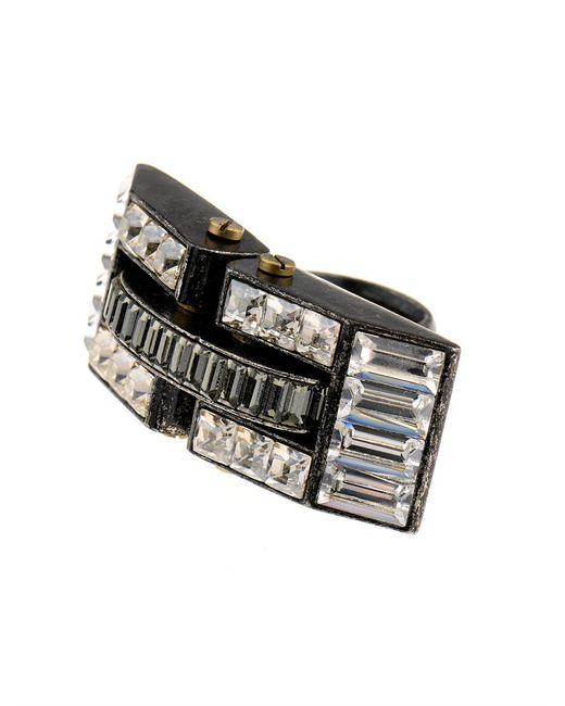 Lanvin | Metallic Dahomar Ring | Lyst