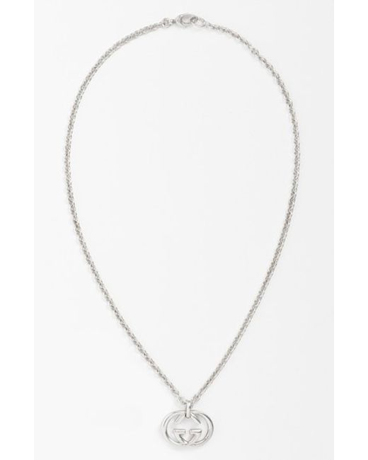 Gucci | Metallic 'silver Britt' Necklace for Men | Lyst