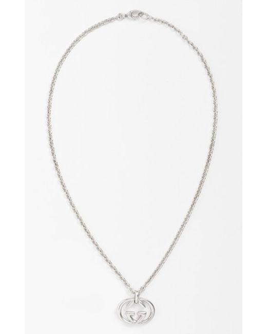 Gucci   Metallic 'silver Britt' Necklace for Men   Lyst